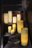 Mynd af Wax candle 20cm B/O with timer, white