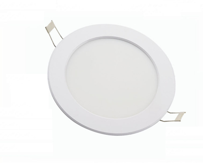 Mynd af 8w White Round Recessed Panel
