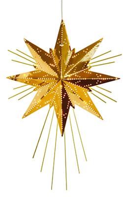 Mynd af Mini Luxe Star Brass