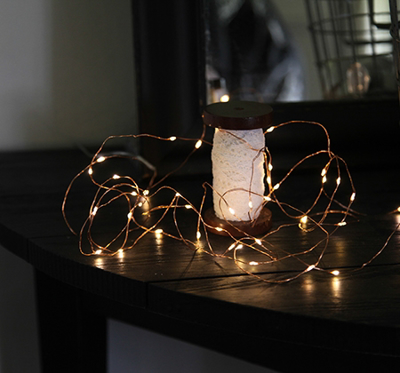 Mynd af Light Chain Dew Drop 40 Led copper wire