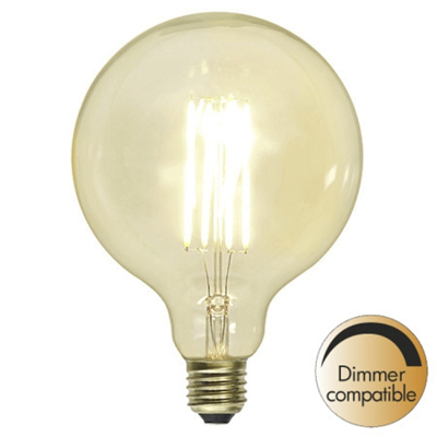 Mynd af Decoration LED Clear G125 E27 2100K 320lm Dimmer comp.