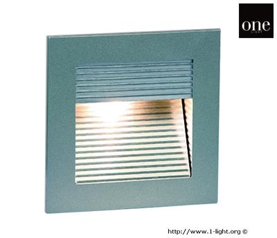 Mynd af One Light GREY WALL RECESSED WARMW IP20