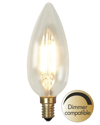 Mynd af Decoration LED Clear filament bulb E14 2200K 270lm Dimmer comp.