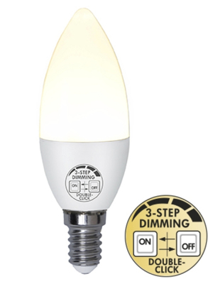 Mynd af LED Pera E14 5W Built in dimmer 3 step