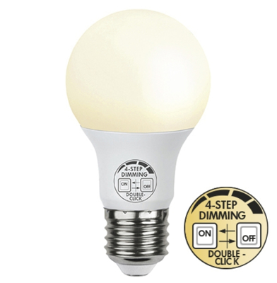 Mynd af LED Pera E27 9W Built in dimmer 4 step
