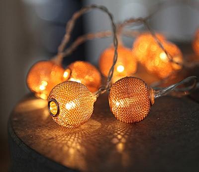 Mynd af LIGHT CHAIN MESHY copper 10 Led
