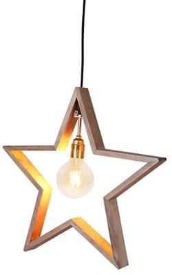 Mynd af LYSeKIL hanging star, E27, brown