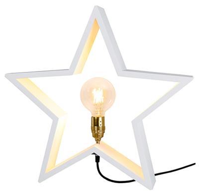 Mynd af LYSeKIL wooden star 52cm E27, white