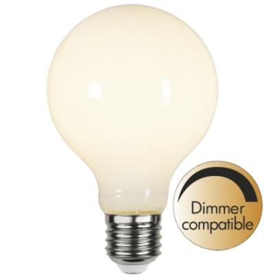 Mynd af Illumination LED Opal G80 E27 2700K 500lm Dimmer comp.