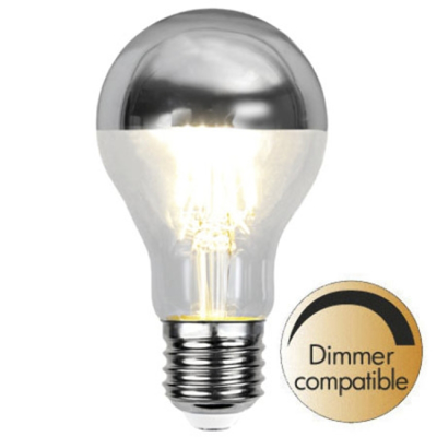 Mynd af Illumination LED Reflective Top Silver E27 2700K 350lm Dimmer comp.