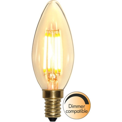 Mynd af LED LAMP E14 C35 SOFT GLOW DIMMABLE