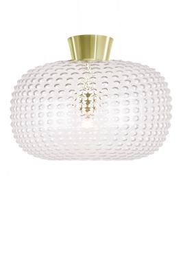Mynd af CEILING LAMP SPRING CLEAR / BRASS