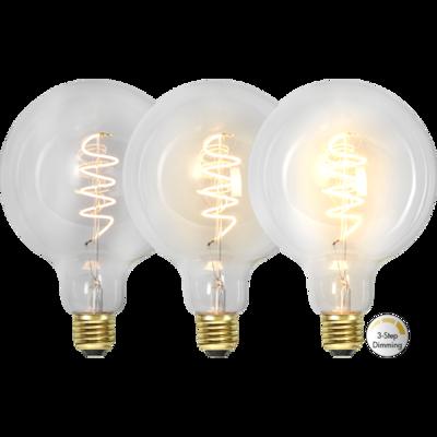 Mynd af LED LAMP E27 G125 3-STEP CLICK