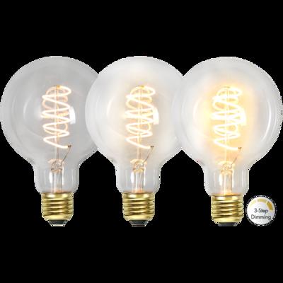 Mynd af LED LAMP E27 G95 3-STEP CLICK