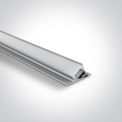 Mynd af 2m Slim Surface aluminium profile with PC opal diffuser