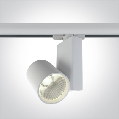 Mynd af 15W White track spot with COB LED, ideal for shops and showrooms