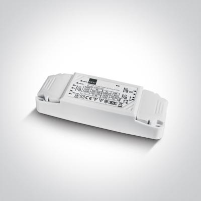 Mynd af 89030VD 30W 24V DC 1-10V & Push to Dim dimmable constant voltage driver, IP20.