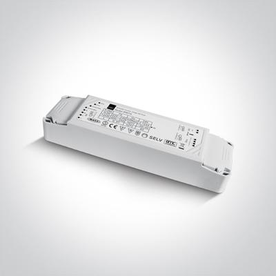 Mynd af 89075L 75W 24V DC 1-10V & Push to Dim dimmable constant voltage driver, IP20.