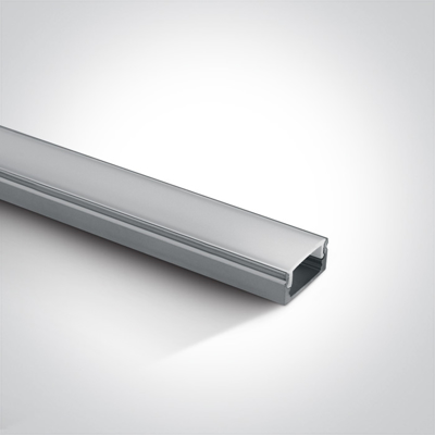 Mynd af PRÓFÍLL 2 METRAR aluminium +PC opal diffuser